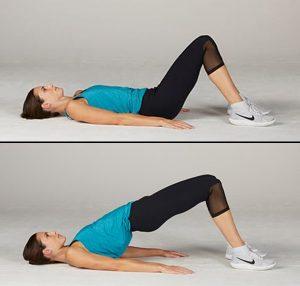 حرکت پل برای عضلات منبسط کنندهی لگن (حالت آسان)