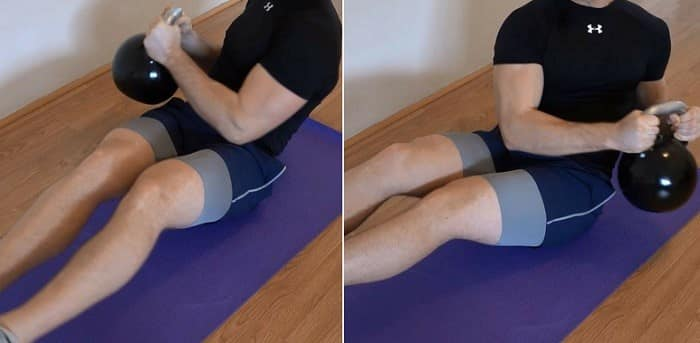 تمرین چرخش روسی برای تقویت عضلات مرکزی بدن