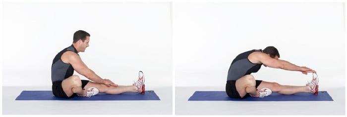 تمرین کشش عضله همسترینگ برای درمان دیسک کمر
